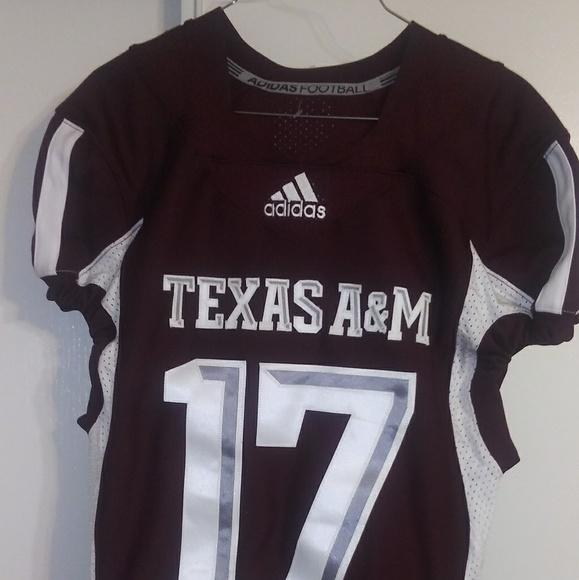 buy online 9cb24 10a5d Adidas Men's Texas A&M Aggies Football Jersey Sz M